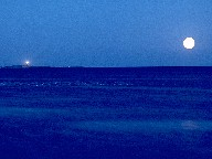 Island of Hirsholmene with Moon, Denmark, 1988
