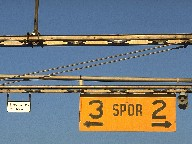 Signs in Kristiansand's railway station, Norway, 1990
