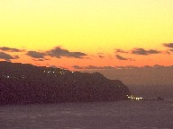 Madeira's West after sunset, 1995