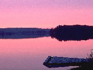 Evening scenery at Ox Narrows, ON, Canada, 1997