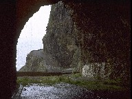 Tunnel at the old north coastal road, Island of Madeira, 2003
