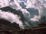 Clouds around the Pico de Arieiro, Island of Madeira, 2003